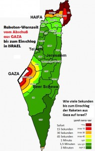 SECURITY ZONES Rocket time from Gaza IDF 7 2014