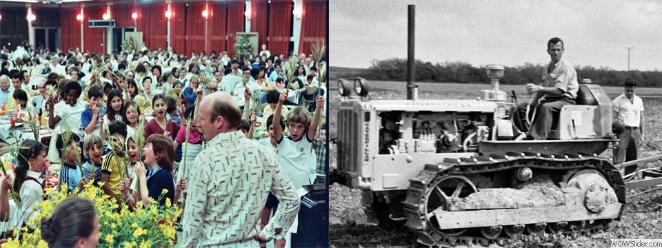 Kibbuz-Speisesaal-Traktor